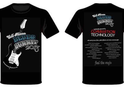 2013 - 22 & 23 Nov - T-shirts Table Mountain Blues Summit sponsorship