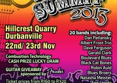 2013 - 22 & 23 Nov - Table Mountain Blues Summit poster
