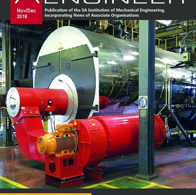 Boiler Energy Efficiency – Front page feature in SA Mechanical Engineer